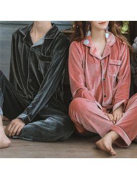 Ciambella   Couple Matching Pajama Set: Pocketed Long Sleeve Top + Pants by Ciambella