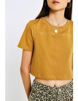 Uo   T Shirt à Manches Courtes Et Coutures Contrastantes by Urban Outfitters