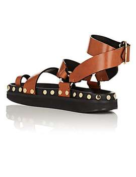 Nirvy Studded Leather Platform Sandals by Isabel Marant
