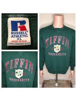 Vintage Tiffin University Sweatshirt // Retro 90s College University // Tiffin Ohio // Crewneck // Dragons Size Xl Large by Etsy
