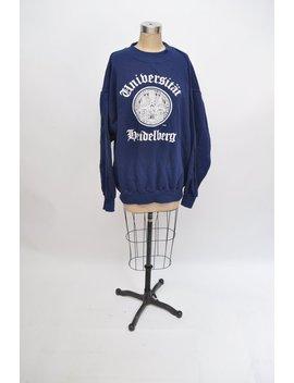 Vintage Heidelberg University Sweatshirt 1980s Retro 80s Raglan by Etsy