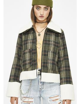 Hood Honey Plaid Jacket by Lelis
