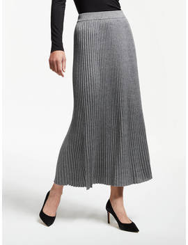 Weekend Max Mara Renna Pleated Maxi Skirt, Grey by Weekend Max Mara