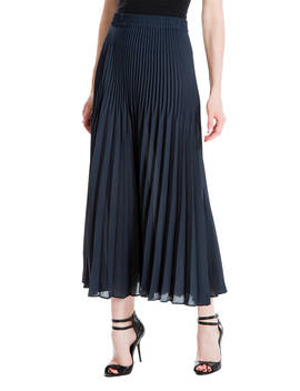 Max Studio Pleated Skirt, Navy by Max Studio