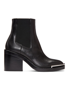 Black Halley Chelsea Boots by Alexander Wang