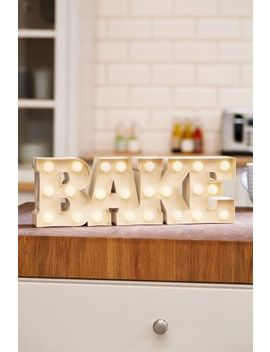 Bake Battery Operated Lit Sign by Next