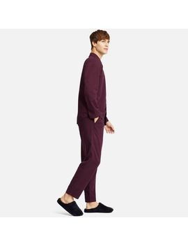 Men Flannel Long Sleeve Pajamas by Uniqlo