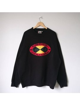 Vintage Cross Colours Post Hip Hop Nation Jumper Sweatshirt Big Logo Hip Hop Swagger Celebrity Fashion Rap Legend Xxl Size by Etsy