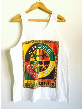 1990s Cross Colours Cross Culture Vintage Tank Top // Size Large by Etsy