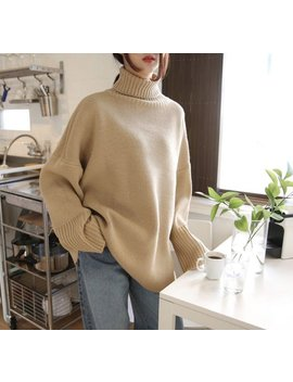 4 Colors High Neck Cozy Knit Sweater/ Long Sleeves Pullover/Oversized Knit Top /Loose Fit Sweater/Plus Size Winter Sweater/Sweaters For Women by Etsy