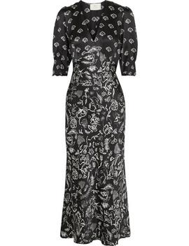 + Laura Jackson Zadie Printed Silk Maxi Dress by Rixo London
