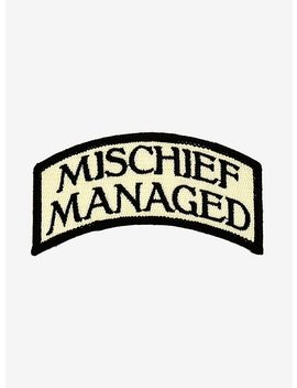 Harry Potter Mischief Managed Patch by Hot Topic