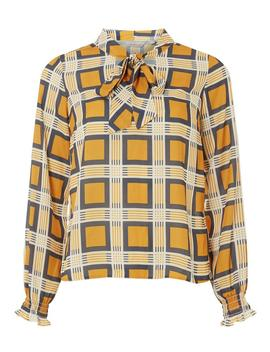 Petite Ochre Pussybow Blouse by Dorothy Perkins