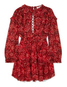Mini Robe Dos Ouvert En Georgette Imprimée Darling by Iro