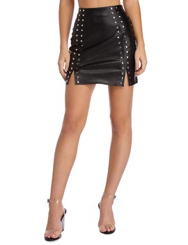 Sassy With Studs Mini Skirt by Windsor