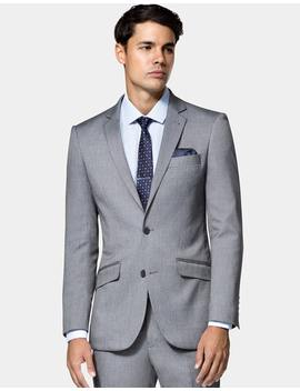 Baxter St Stretch Suit Jacket In Grey by Hallenstein Brothers