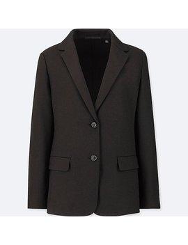 Women Wool Blended Jacket by Uniqlo