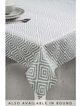 Wipe Clean Grey Geo Pvc Tablecloth by Next
