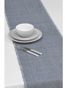 Grey Geo Fabric Table Runner by Next