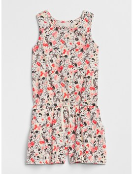 Print Twist Back Romper by Gap