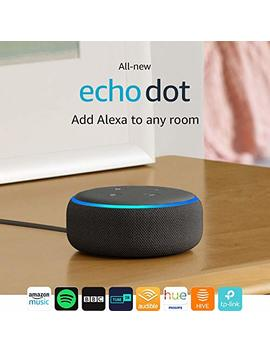 All New Echo Dot (3rd Gen)   Smart Speaker With Alexa   Charcoal Fabric by Amazon