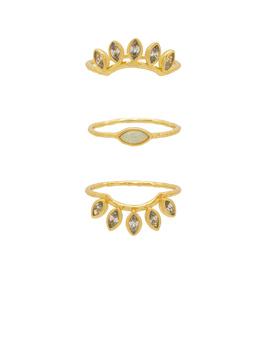Rumi Burst Ring Set by Gorjana