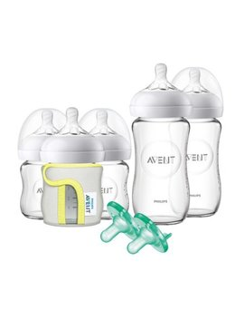 Philips Avent Natural Glass Bottle Baby Gift Set, Scf201/01 by Philips Avent