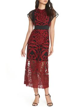Rosabel Embroidery Midi Dress by Foxiedox