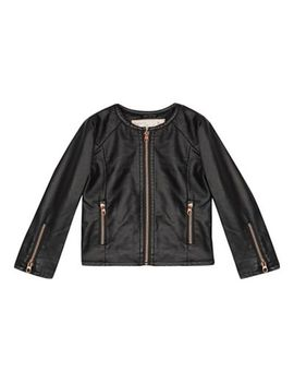 Baker By Ted Baker   Girls' Black Pu Jacket by Baker By Ted Baker