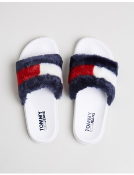Funny Fur Pool Slides   Women's by Tommy Hilfiger