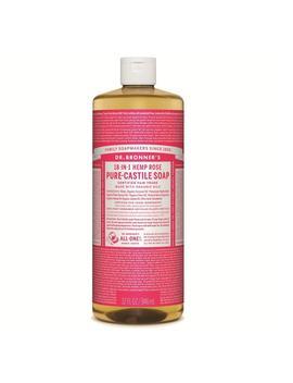 Dr. Bronner's Organic Rose Castile Liquid Soap 946ml by Dr Bronner