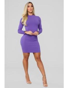 One Call Away Mini Dress   Violet by Fashion Nova