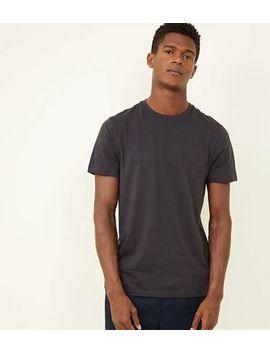 Dark Grey Crew Neck T Shirt by New Look