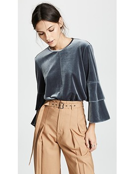Bell Sleeve Top by Tibi