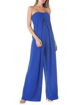 Strapless Crepe Jumpsuit by Kay Unger