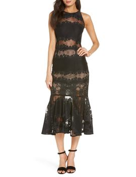 Bettina Lace Panel Tea Length Dress by Bronx And Banco