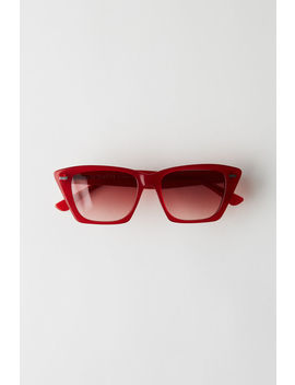 Cateye Sunglasses Red/Red by Acne Studios