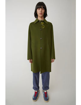 Cashmere Blend Coat Hunter Green by Acne Studios