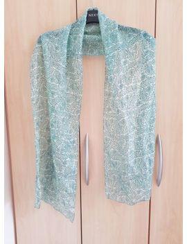 Ladies Green Scarf, 100 Percents Silk, Tie Rack, Worn Once, Genuine by Ebay Seller