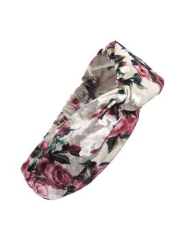 Velvet Floral Twist Head Wrap by Tasha