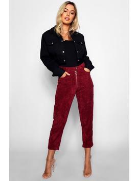 Petite Jumbo Cord Mom Jeans by Boohoo