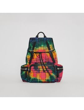 The Large Rucksack In Tie Dye Vintage Check by Burberry