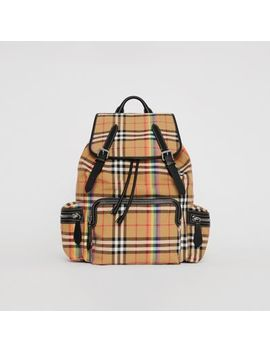 The Large Rucksack In Rainbow Vintage Check by Burberry