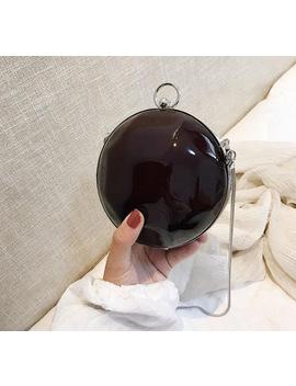 2018 Women Leather Handbag Female Summer Travel Beach Bag Personalized Round Ball Cute Mini Shoulder Messenger Bag by Hanmei