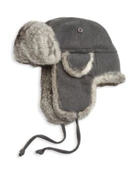 Collection Rabbit Fur Aviator Hat by Saks Fifth Avenue