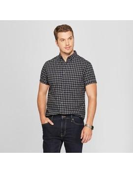 Men's Short Sleeve Poplin Button Down Shirt   Goodfellow & Co™ Charcoal by Goodfellow & Co™