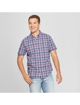 Men's Short Sleeve Poplin Button Down Shirt   Goodfellow & Co™ Blue Dusk by Goodfellow & Co™