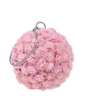 Yingmi Flower Party Women Bag Crystal Round Small Day Clutch Wedding Bridal Chain Shoulder Handbags One Side Purse Bag by Yingmi