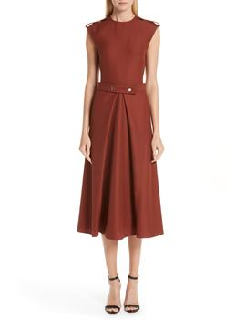 Belted Midi Dress by Victoria Beckham