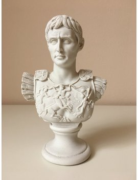 Augustus Caesar Bust As Centurion Of Primaporta Sculpture (Small) by Etsy